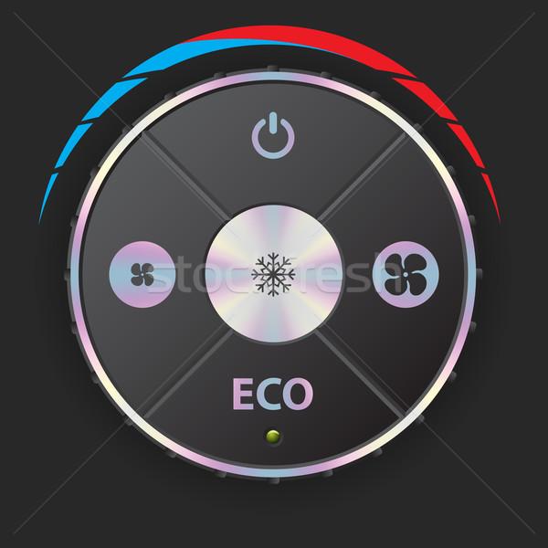 Aire acondicionado metálico elementos negro coche Foto stock © vipervxw