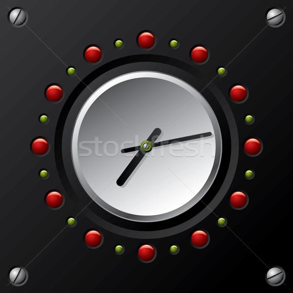 Foto stock: Fresco · tecnología · diseno · vector · reloj · signo