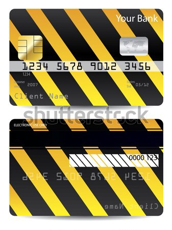 Cool warning credit card design  Stock photo © vipervxw