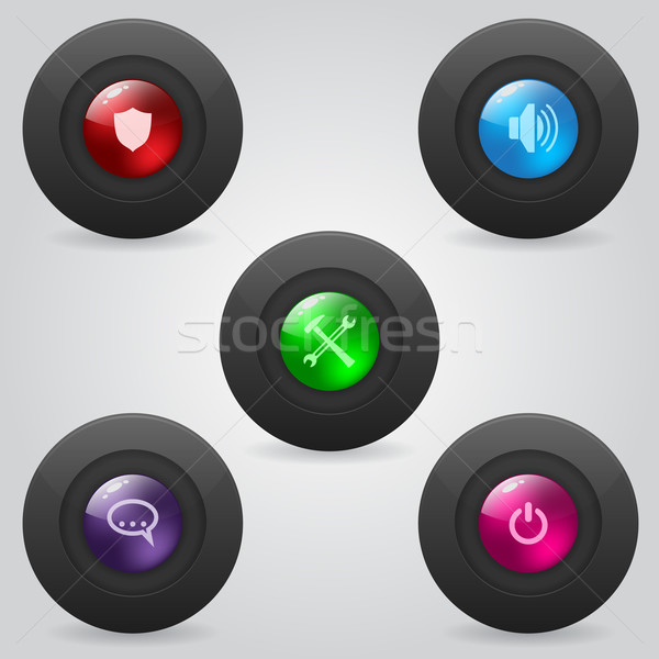 Matte web buttons with shiny inner spheres Stock photo © vipervxw