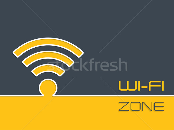 Wireless connection zone advertising background Stock photo © vipervxw
