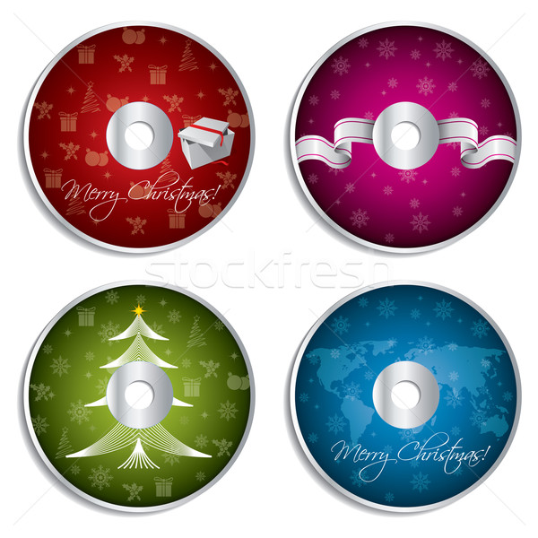 Christmas cd design set  Stock photo © vipervxw