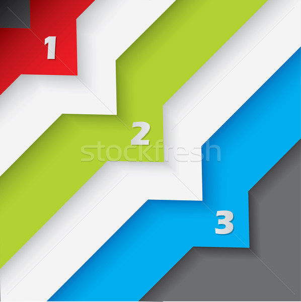 Abstract numbered labels on dark background Stock photo © vipervxw