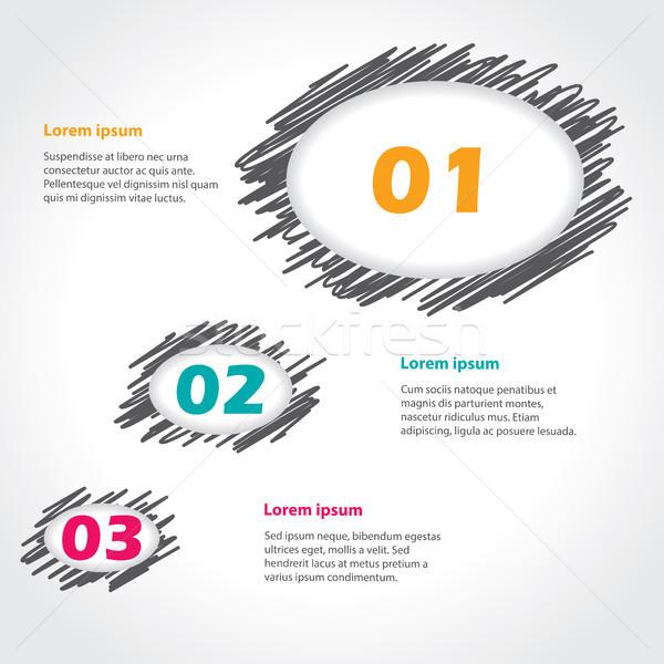 Speech bubble theme infographics design Stock photo © vipervxw