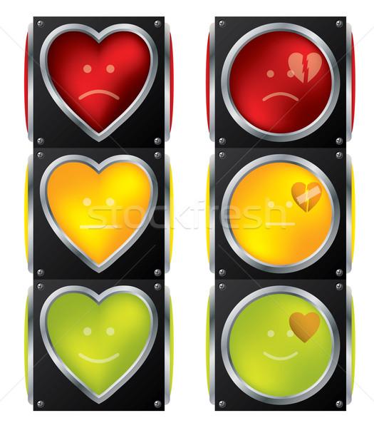 Sevmek trafik ışıkları ışık yeşil kentsel kırmızı Stok fotoğraf © vipervxw