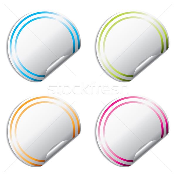 Blank color stickers  Stock photo © vipervxw