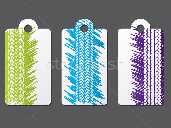Tire label set with scribbled background Stock photo © vipervxw