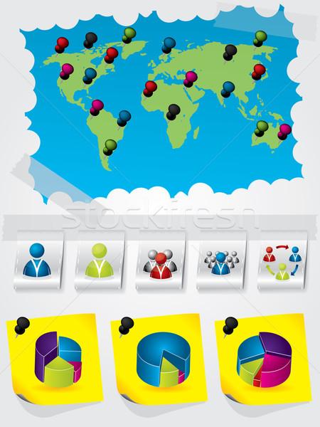 Informations design graphique couleurs calendrier Photo stock © vipervxw