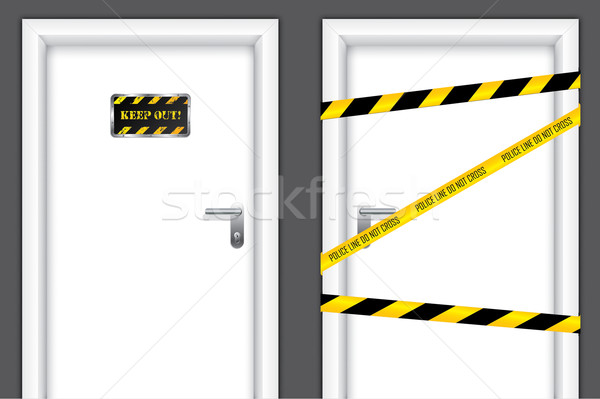 Banned doors Stock photo © vipervxw