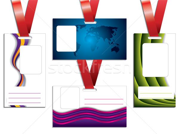 Name tag set Stock photo © vipervxw