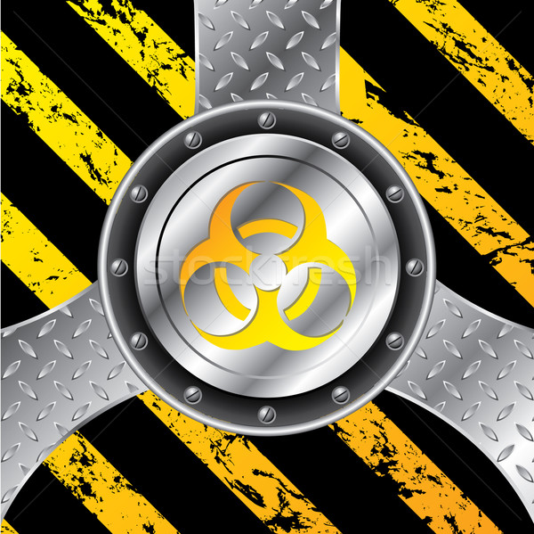 Industrial background design with bio hazard sign  Stock photo © vipervxw
