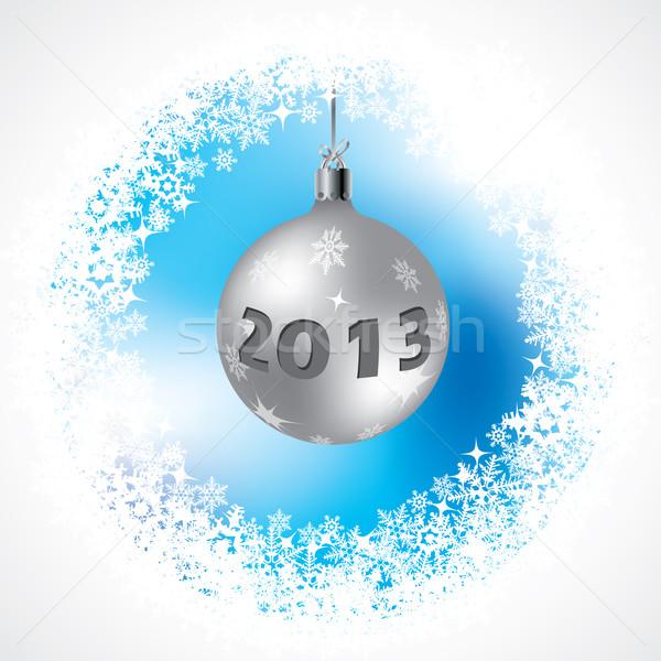 2013 karácsony dekoráció absztrakt jeges kék Stock fotó © vipervxw