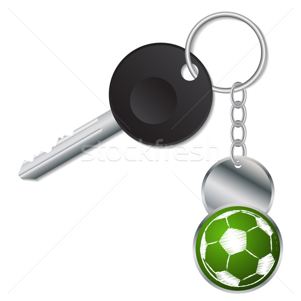 Czarny kluczowych metaliczny piłka piłka nożna piłka nożna Zdjęcia stock © vipervxw