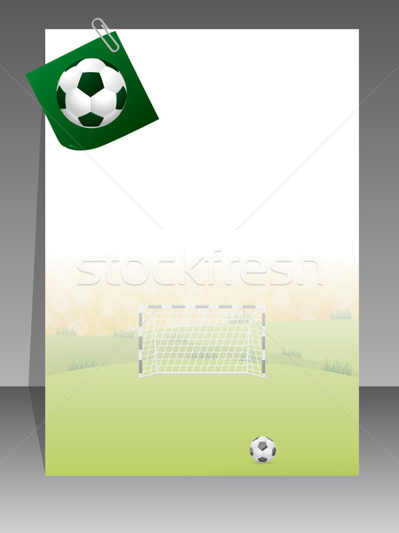 Soccer brochure with notepaper Stock photo © vipervxw