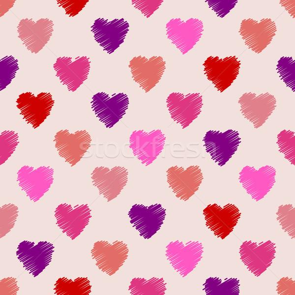 Scribbled heart pattern design Stock photo © vipervxw