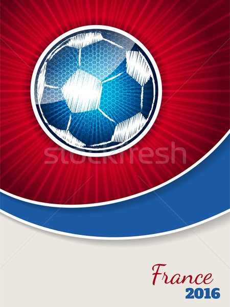 Abstract Blauw Rood voetbal brochure sjabloon Stockfoto © vipervxw