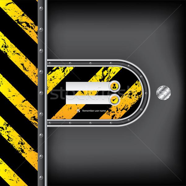 Abstrato industrial login interface metálico seta Foto stock © vipervxw