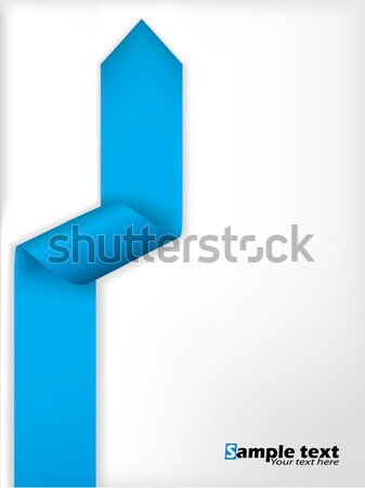 Abstract brochure design blu origami arrow Foto d'archivio © vipervxw