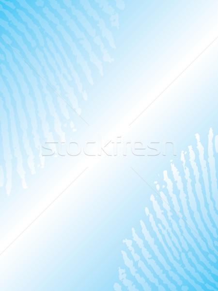 Ujjlenyomat brosúra terv absztrakt kék bár Stock fotó © vipervxw
