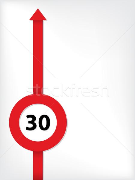 Vermelho seta limite de velocidade símbolo negócio abstrato Foto stock © vipervxw