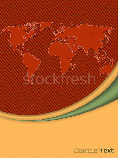 Company brochure with outlined world map Stock photo © vipervxw