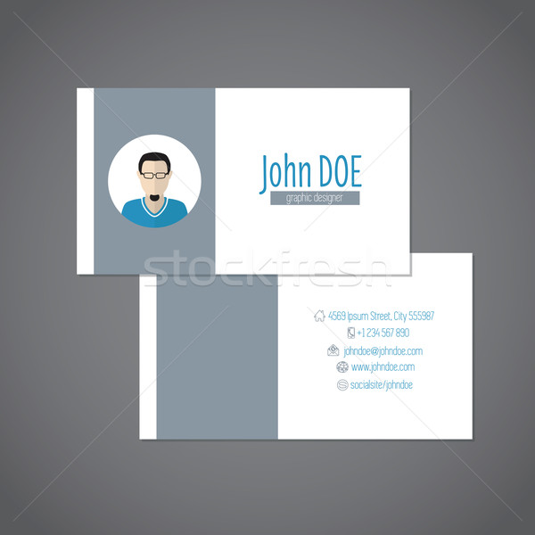 Simplistic business card with photo Stock photo © vipervxw