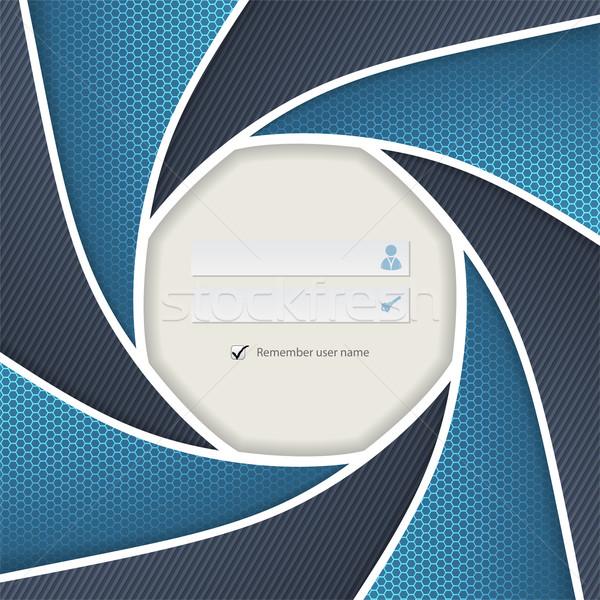 Caméra obturateur s'identifier écran modèle design Photo stock © vipervxw
