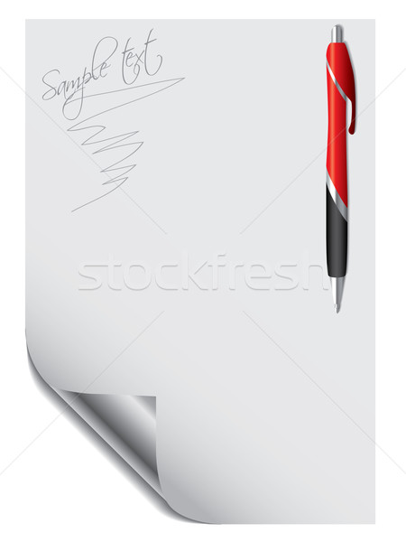Pen with paper Stock photo © vipervxw
