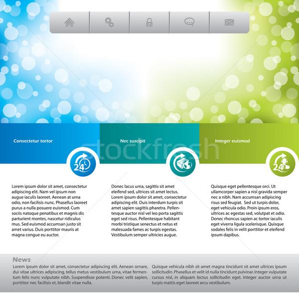 Customer care website template  Stock photo © vipervxw