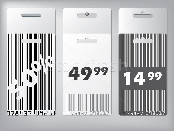 Bar code design labels hanging  Stock photo © vipervxw