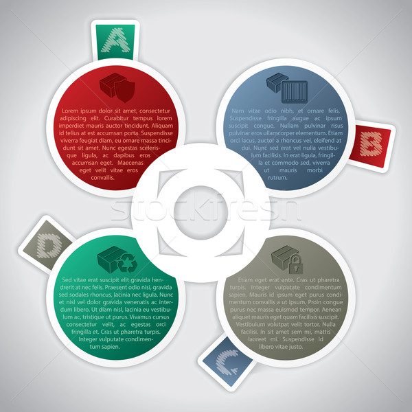 Infographic design with graded color stickers Stock photo © vipervxw