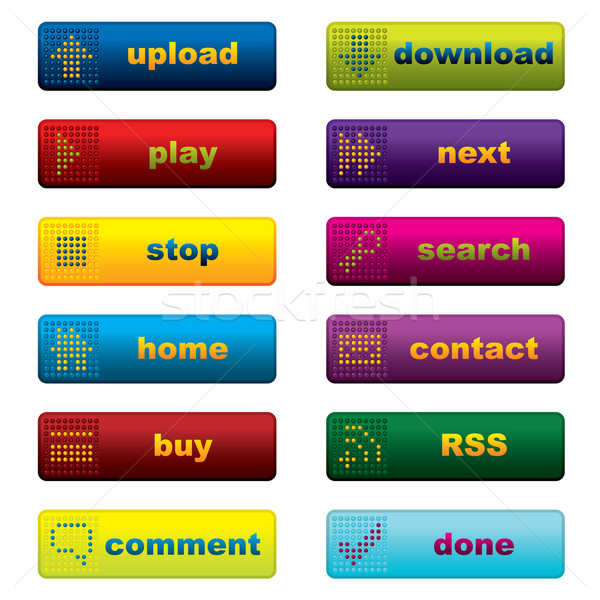 Web button designs with leds Stock photo © vipervxw