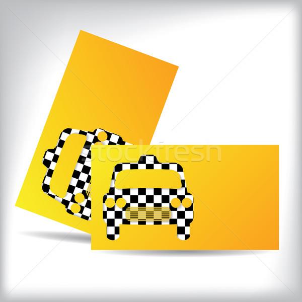 Taxi carte de visite design voiture forme Photo stock © vipervxw