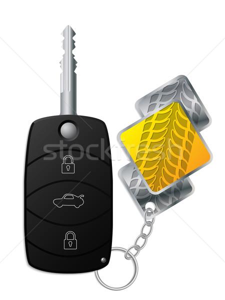 Car remote with tire tread keyholder Stock photo © vipervxw