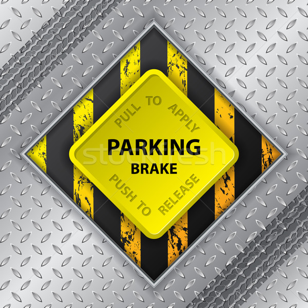 Industrielle brochure pneu suivre parking frein Photo stock © vipervxw
