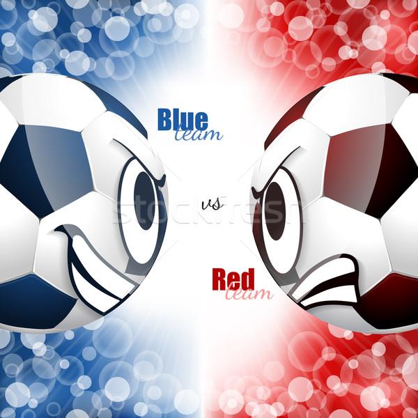 Soccer balls head to head design Stock photo © vipervxw