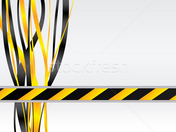 Warning with ribbon  Stock photo © vipervxw