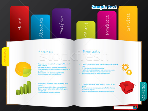 Labeled book web template  Stock photo © vipervxw
