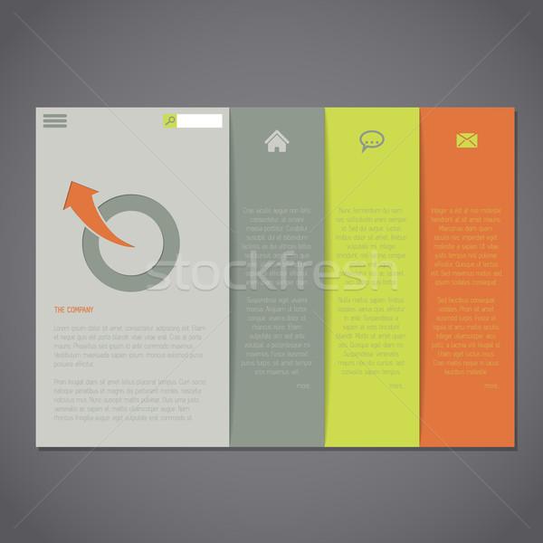 Website template with simplistic design Stock photo © vipervxw