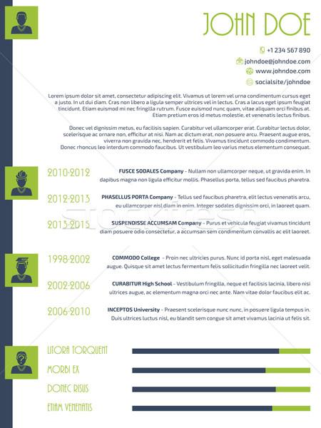 Simplistic modern resume cv design Stock photo © vipervxw