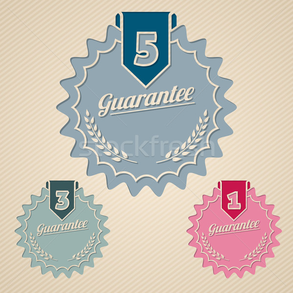Stock photo: Guarantee icon set flat style