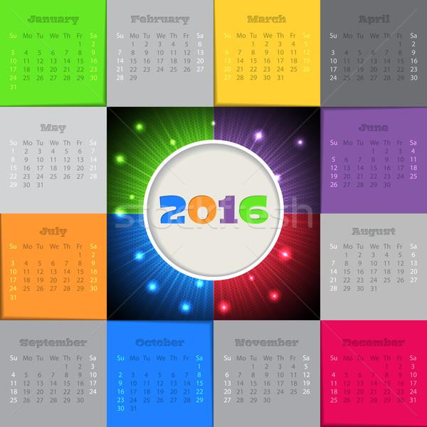 Bursting 2016 calendar design Stock photo © vipervxw