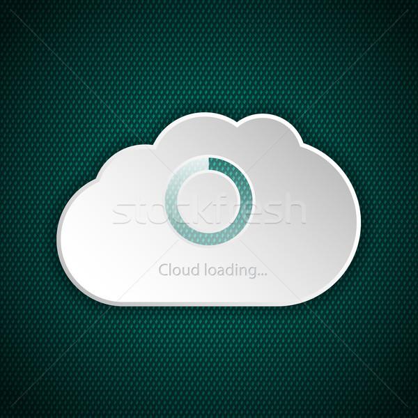 Cloud interface loading screen Stock photo © vipervxw
