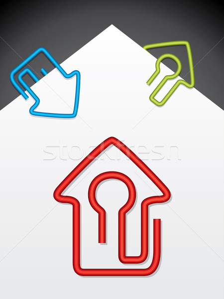 House shaped paper clips Stock photo © vipervxw