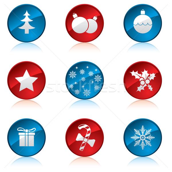 Christmas wakacje strony internetowe śniegu Zdjęcia stock © vipervxw