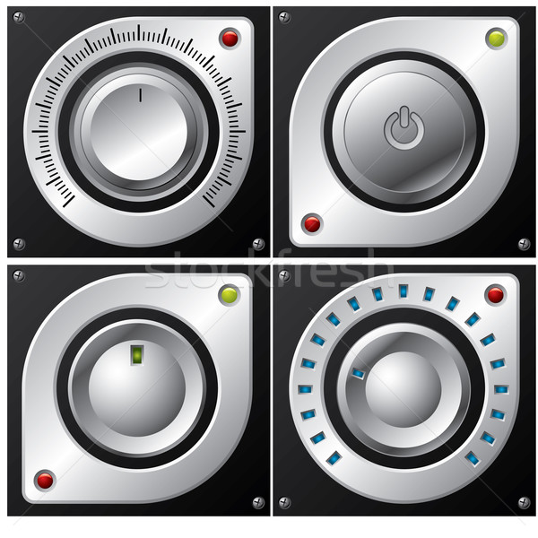 Volume, amplifier and button design  Stock photo © vipervxw