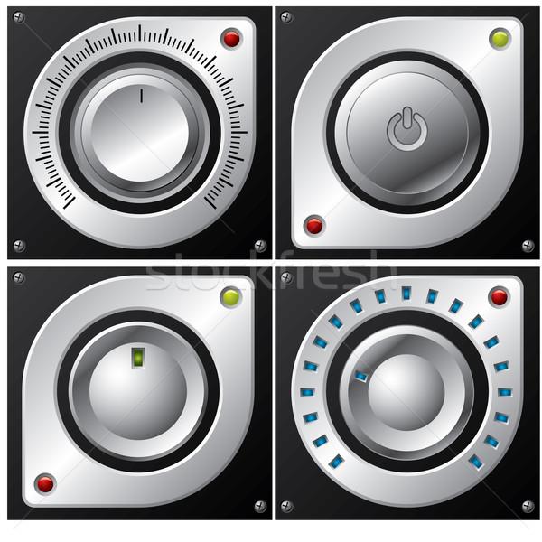 Volume, amplifier and button design  Stock photo © vipervxw