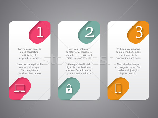 Infographic tags with cool icons and numbers Stock photo © vipervxw