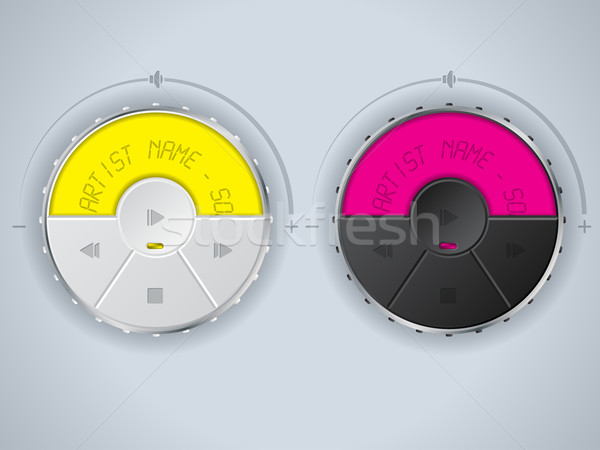 Compact car mp3 control panel design Stock photo © vipervxw