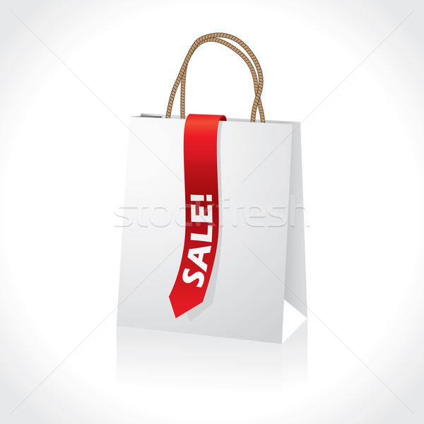 ショッピング 白 赤 販売 リボン ストックフォト © vipervxw